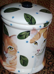 Cat Canister Kitty Cookie Jar
