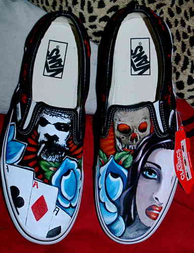 Custom Vans any size Gothic darker theme