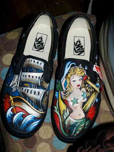 Custom Vans any size Nautical theme