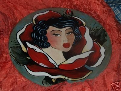 Pin up tattoo wok platter 18 in