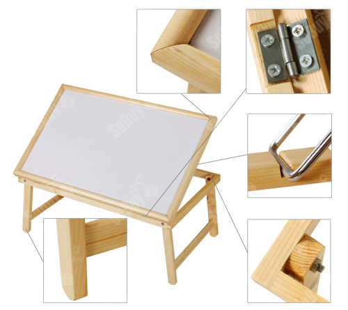 Folding Wood Bed Tray Table