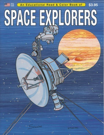 Space Explorers Coloring Book