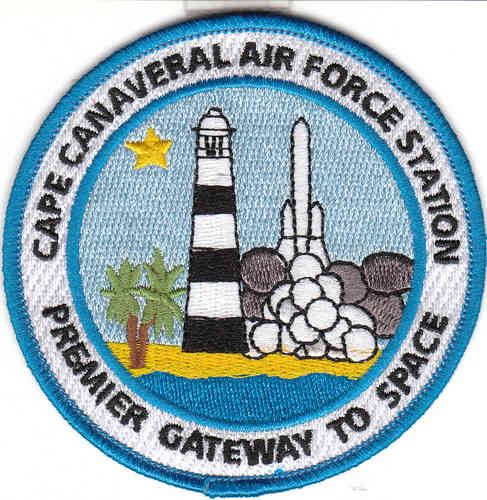 Cape Canaveral Air Force Station Patch (3.5 in iron on)