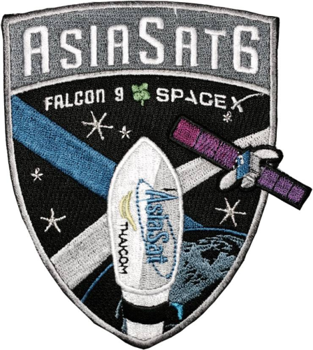 SpaceX AsiaSat6 Patch