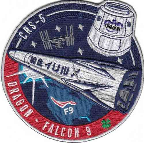 CRS-5 SpaceX Mission Patch