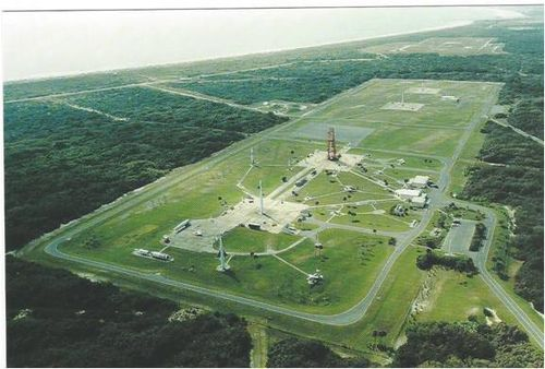 Postcard, Aerial View of Launch Complex 26 CCAFS, Fl