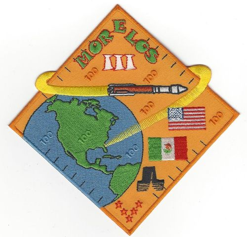 MORELOS-3 Mission Patch (Launch Vehicle) 5th SLS