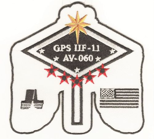 GPS IIF-11 Launch Vehicle Mission Patch - 5th SLS