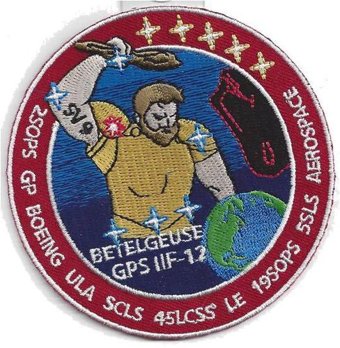 GPS IIF-12 Payload Mission Patch - 45th LCSS