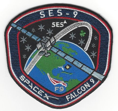 SES-9 SpaceX Mission Patch