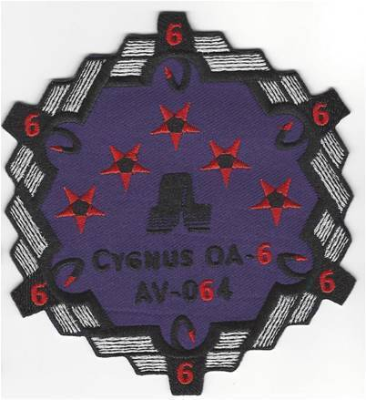Cygnus OA-6 Mission launch vehicle patch