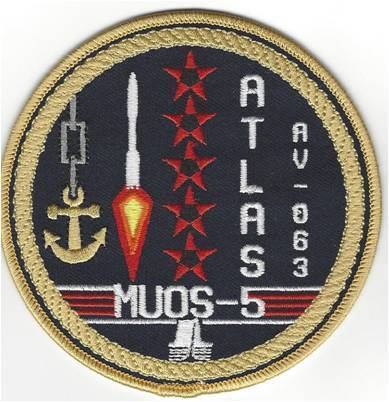 MUOS-5 Mission. LV patch  5th SLS