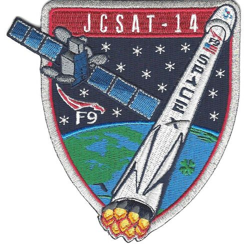 JCSAT-14 SpaceX Mission Patch