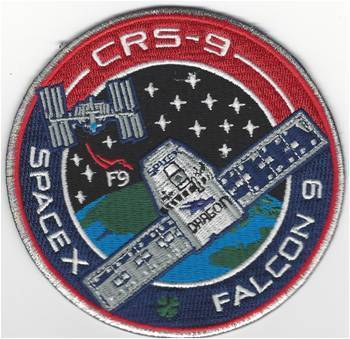 CRS-9 SpaceX  Mission Patch