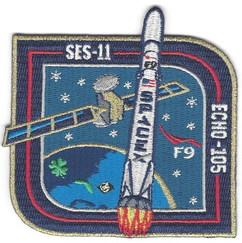 SpaceX ECHO 105/SES-11 Mission Patch