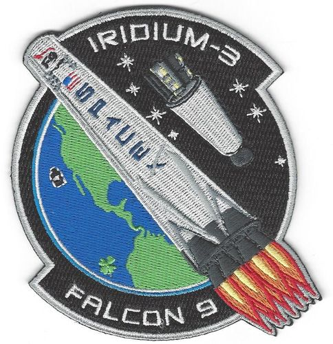 SpaceX IRIDIUM-3 NEXT Mission Patch