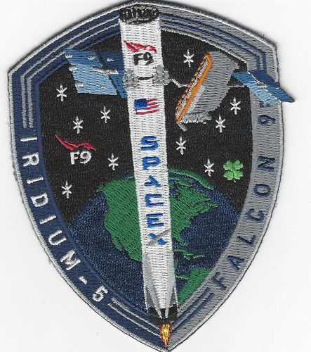SpaceX IRIDIUM-5 NEXT mission patch