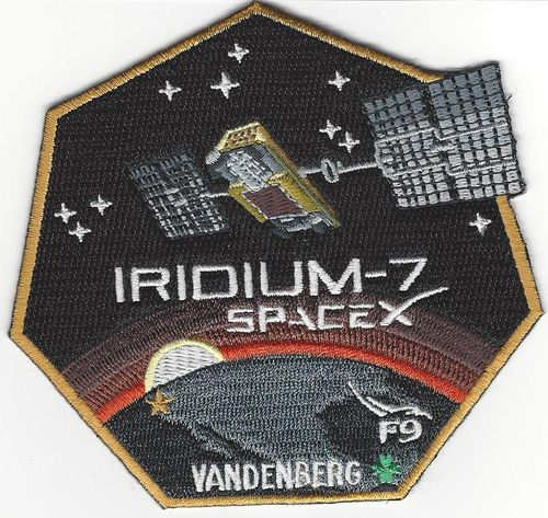 SpaceX IRIDIUM-7 Mission Patch