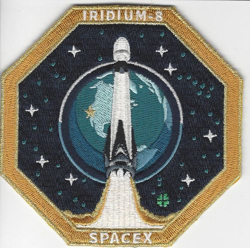 SpaceX IRIDIUM-8 Mission Patch