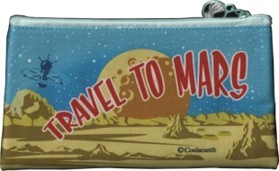 Travel to Mars Zippered Pouch - Medium