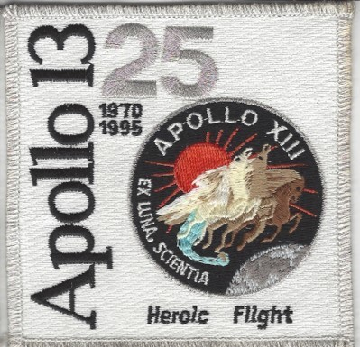 Apollo 13 25th Anniversary Patch