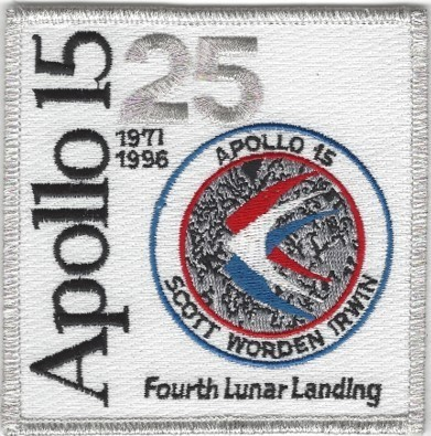 Apollo 15 25th Anniversary Patch