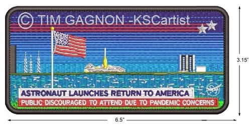 DM-2 Mission Limited Edition Patch by Tim Gagnon