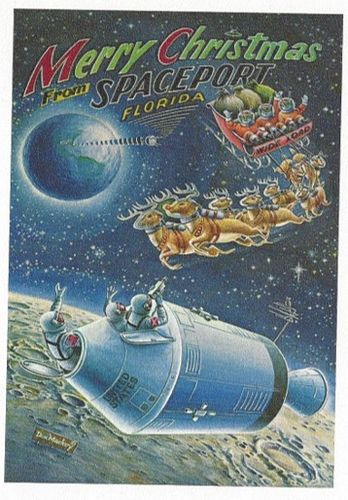 Don Mackey Christmas Card - Spaceport