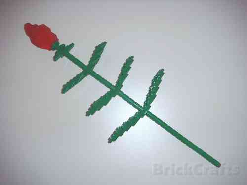 BrickCrafts Build-Your-Own LEGO® Long Stem Rose