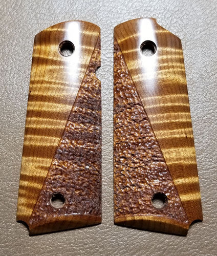 Hades Roasted Curly Maple, half stipple  SOLD