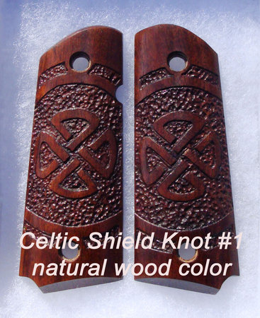 Celtic Shield Knot style #1, round stipple, natural color (Imbuya shown)\\n\\n1/19/2016 9:32 PM