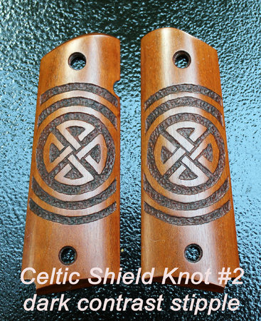 Celtic Shield Knot style #2, concentric circle stipple with brown dye contrast\\n\\n1/19/2016 9:32 PM