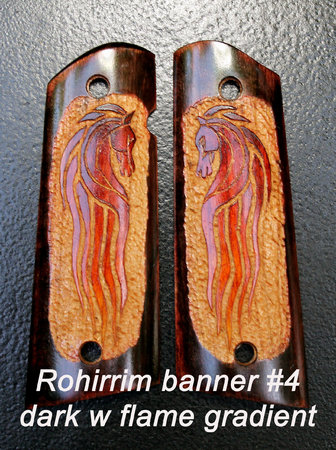 Rohirrim banner #4, dark surround with flame gradient horse\\n\\n1/19/2016 8:56 PM