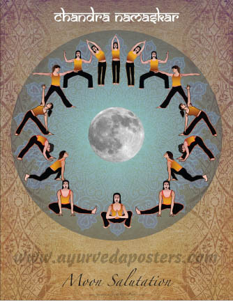 Moon Salutation Chart Small