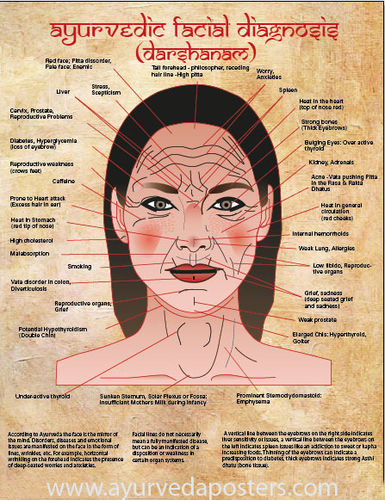 New facial diagnosis chart small