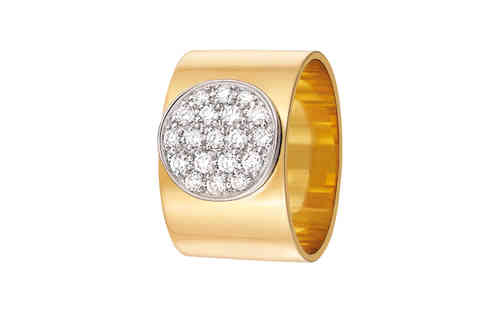 Anthea 12mm 18K Yellow Gold Ring