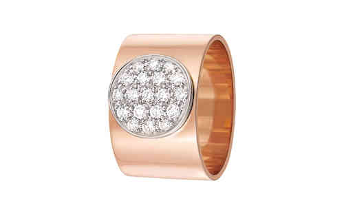 Anthea 12mm 18K Rose Gold Ring