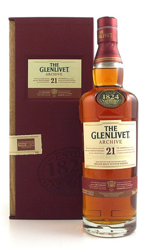 THE GLENLIVET (ARCHIVE) 21 YEARS 750ML