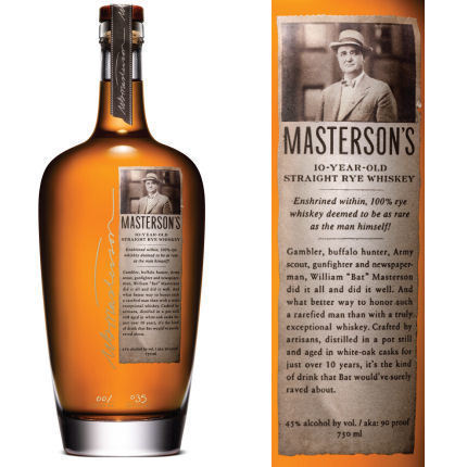 MASTERSON'S 10 YR RYE WHISKEY 750ML
