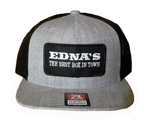 Edna's flat bill baseball hat with patch
