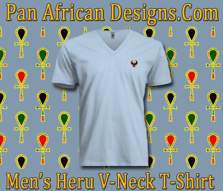 Men Heru V-Neck T-Shirt - Pan African Designs c0c4d6cff