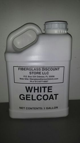 1 Gallon White Gel-Coat w/No wax and Hardener