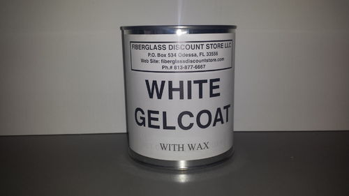 1Quart White Gel-Coat w/Wax and Hardener