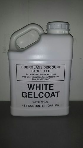 1 Gallon White Gel-Coat w/Wax and Hardener
