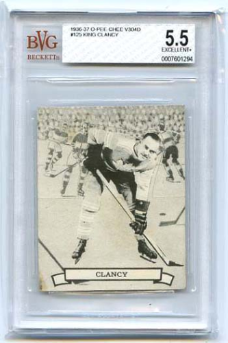 King Clancy   1936-37  NHL O-Pee-Chee V304D #125..Beckett graded 5.5 Excellent+