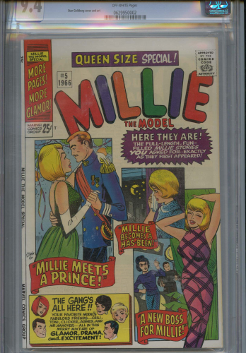 Millie The Model Annual #5 CGC 9.4
