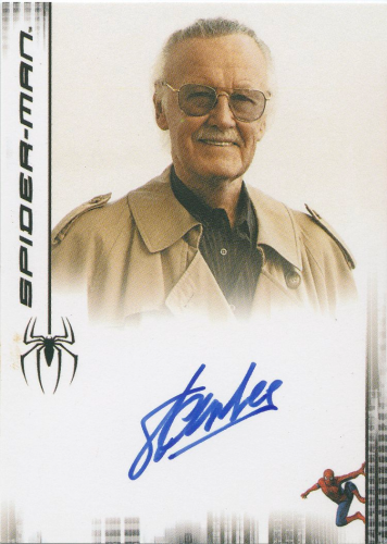 Stan Lee Autograph Card (Spider-man Movie Trading Card)