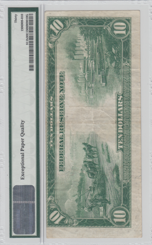 United States $10 1914 Federal Reserve Note  (when hemp farming was legal)