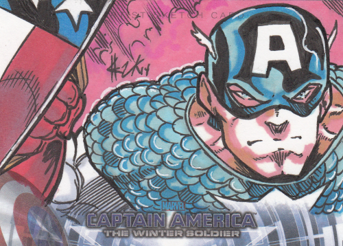 Captain America II Movie Marvel Art Sketch card (1 of 1)