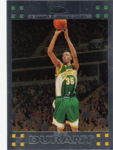 Kevin Durant (rookie) 2007/08 NBA Topps Chrome #131